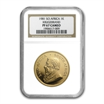 1981 1 oz Gold South African Krugerrand PF-67 CAM NGC